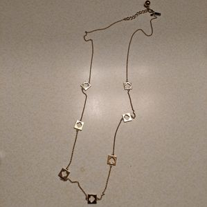 Kate Spade goldtone hole punch necklace